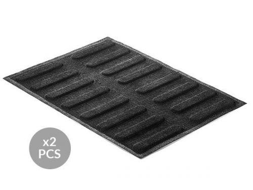 AIR PLUS 11 - 2 silikonskih rupičastih kalupa-podloge N.16 ECLAIR 25X125 H5MM