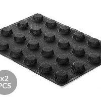 AIR PLUS 15 - 2 silikonskih rupičastih kalup-podloge N.24 ROUND D40 H 16 MM