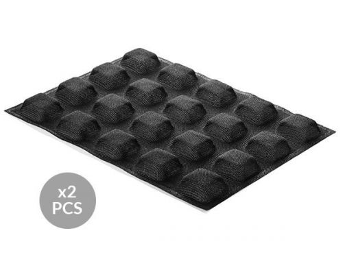 AIR PLUS 17 - 2 silikonskih rupičastih kalup-podloge N.20 SQUARE 50X50 H20MM