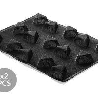 AIR PLUS 21 - 2 silikonskih rupičastih kalup-podloge N.15 TRIANGLE 60 H25MM