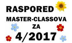 RASPORED MASTER-CLASSOVA ZA 4. MJESEC 2017.