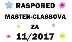 RASPORED MASTER-CLASSOVA ZA 11. MJESEC 2017.