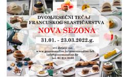 DVOMJESEČNI tečaj francuskog slastičarstva!!!!! 31.01. - 23.03.2022.g.