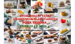 DVOMJESEČNI tečaj francuskog slastičarstva!!!!! 30.09. - 11.12.2021.g.