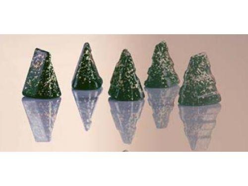 KALUP ZA ČOKOLADU, polikarbonatni, božićno drvce, dimenzija 31X22mm, visina 22mm