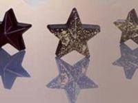 KALUP ZA ČOKOLADU, polikarbonatni, zvijezda, dimenzija 40x42mm, visina 16mm