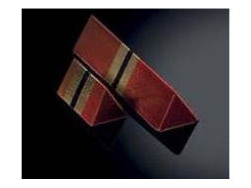KALUP ZA ČOKOLADU TRIANGLE SNACK, polikarbonatni, dimenzija 96x22mm, visina 17 mm