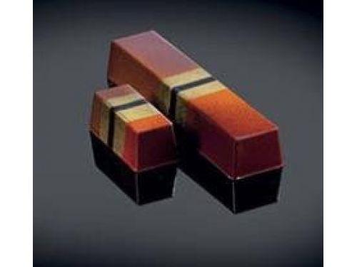 KALUP ZA ČOKOLADU PLAIN SNACK, polikarbonatni, dimenzija 96x22mm, visina 15,5 mm