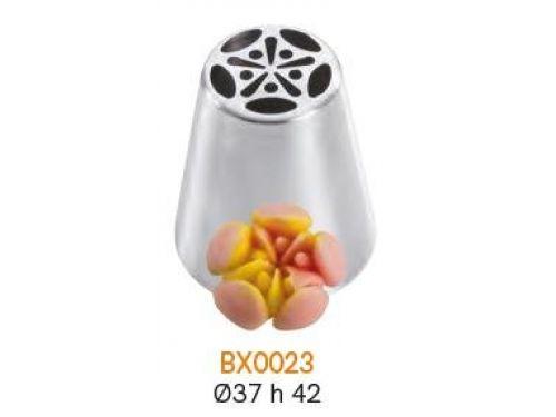 BX0023 Nastavak za slastičarsku vrećicu (INOX) - CVIJET