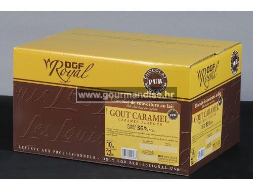 MLIJEČNA COUVERTURE ČOKOLADA S OKUSOM KARAMELE, 36% kakao min., 2kg