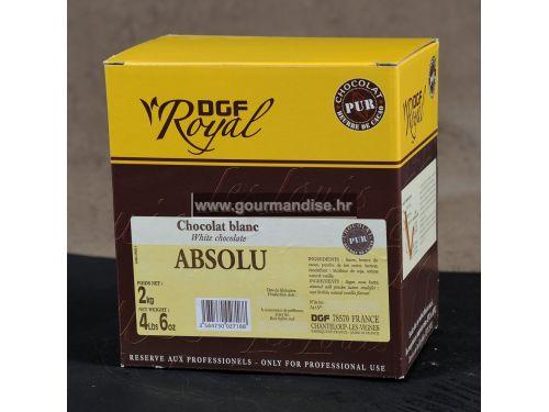 BIJELA COUVERTURE ČOKOLADA ABSOLU, 35% KAKAO min., 2kg
