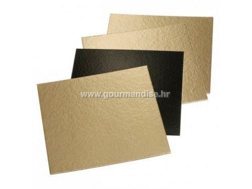 PODLOŽAK, dimenzija 230x230mm, kartonski, zlatno/crni