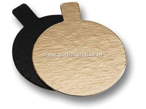 PODLOŽAK, MALI KARTONSKI, okrugli 80mm, crni/zlatni