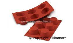 SF023 - TERRACOTTA silikonski kalup, NR. 6, MUFFINS MEDIO, dimenzija 69mm, visina 35mm