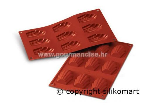 SF032 - TERRACOTTA MADELEINES, silikonski kalup, dimenzija 68x45mm, visina 17mm