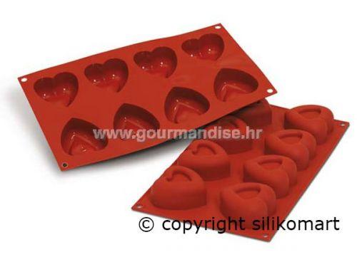 SF087 - silikonski kalup NR.8 VELIKO SRCE SAVARIN, dimenzija 60x59mm, visina 30mm