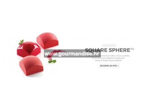 SQUARE SPHERE, silikonski kalup, dimenzija 60x60mm, visina 39mm
