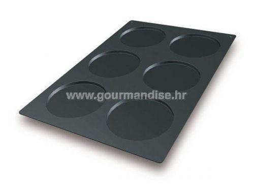 SQ012 - KRUG, N. 6 , crni silikonski kalup, 160mm, visina 10mm, 600x400mm