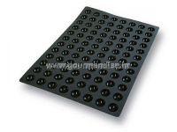 SQ015 - POLUKUGLA, N. 96 , crni silikonski kalup, 35mm, visina 17,5mm, 600x400mm