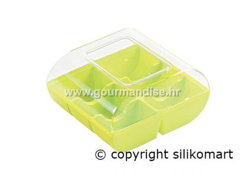 PLASTIČNA KUTIJA - MACADÒ 6 - za 6 makaronsa, neon zelena