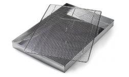 REŠETKA od nehrđajučeg čelika dimenzije: 590x390mm s 5 stopa